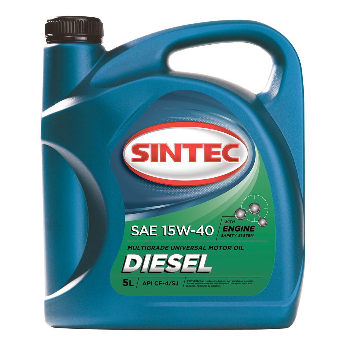 Масло SINTEC Diesel SAE 15W-40 API CF-4/CF/SJ
