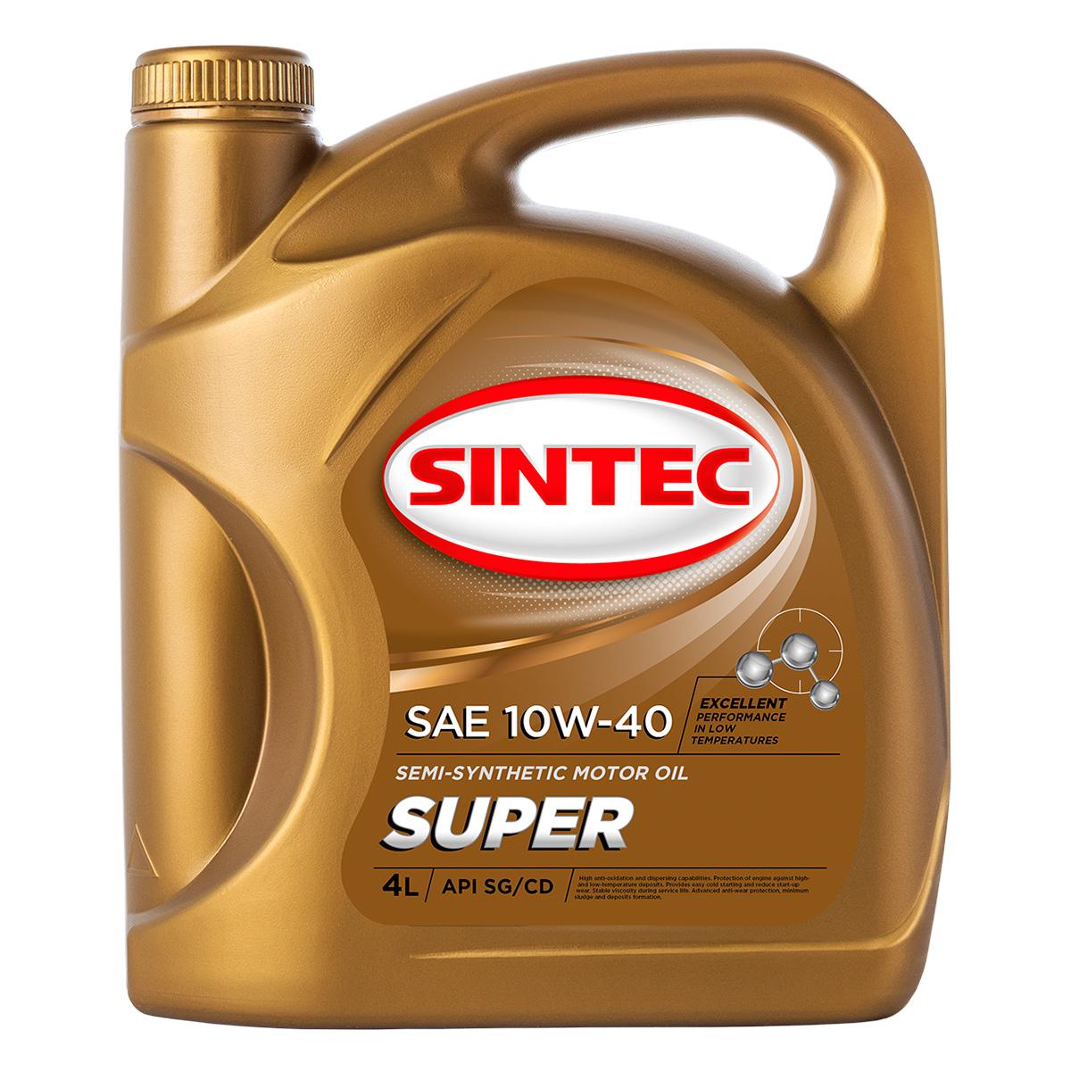 SINTEC SUPER SAE 10W-40 API SG/CD