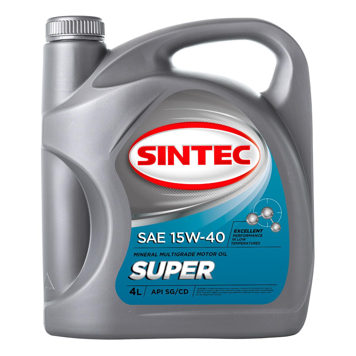 SINTEC SUPER SAE 15W-40 API SG/CD