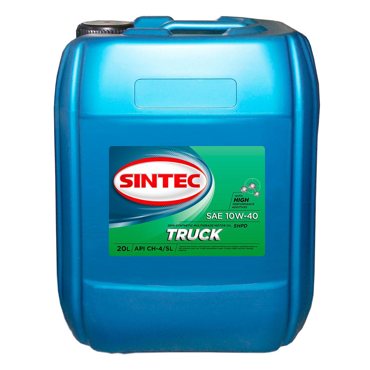 SINTEC TRUCK SAE 10W-40 API CH-4/SL