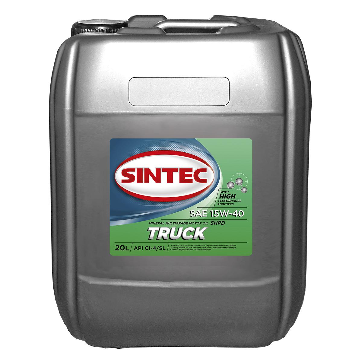 SINTEC TRUCK SAE 15W-40 API CI-4/SL
