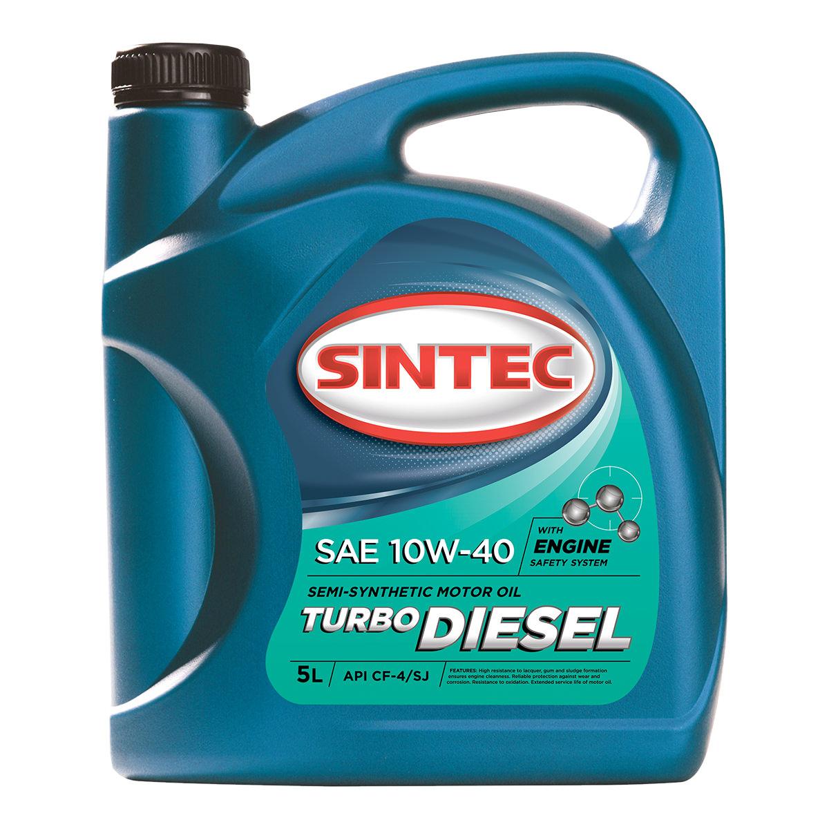 SINTEC TURBO DIESEL SAE 10W-40 API CF-4/CF/SJ